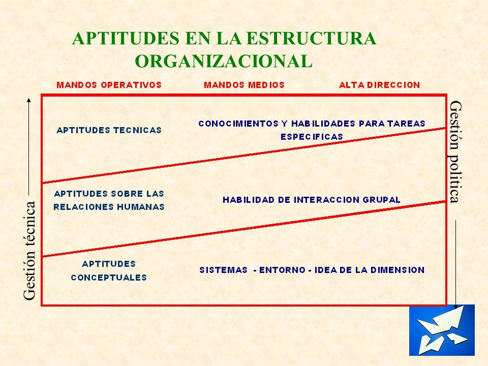 APTITUDES EN LA ESTRUCTURA ORGANIZACIONAL