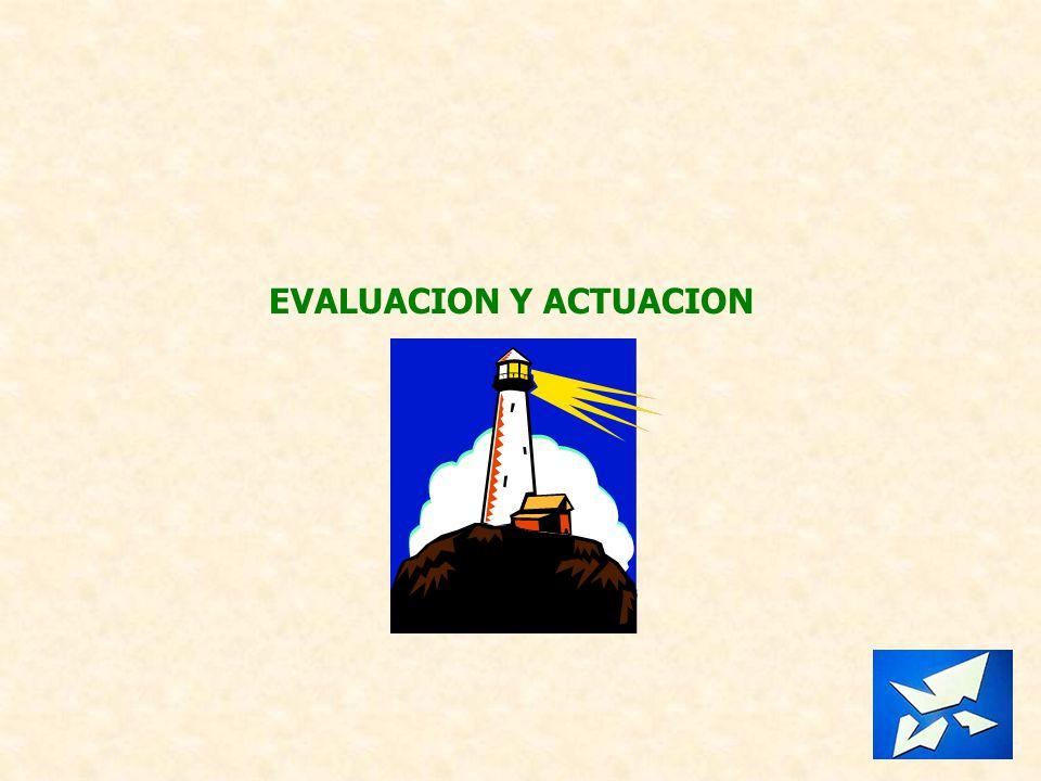 EVALUACION Y ACTUACION