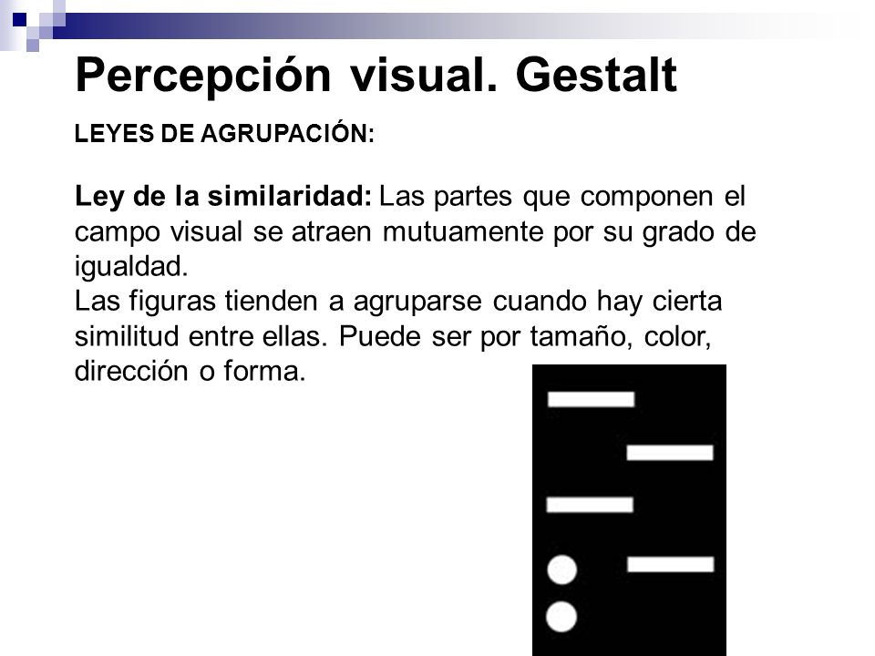 Percepción visual. Gestalt