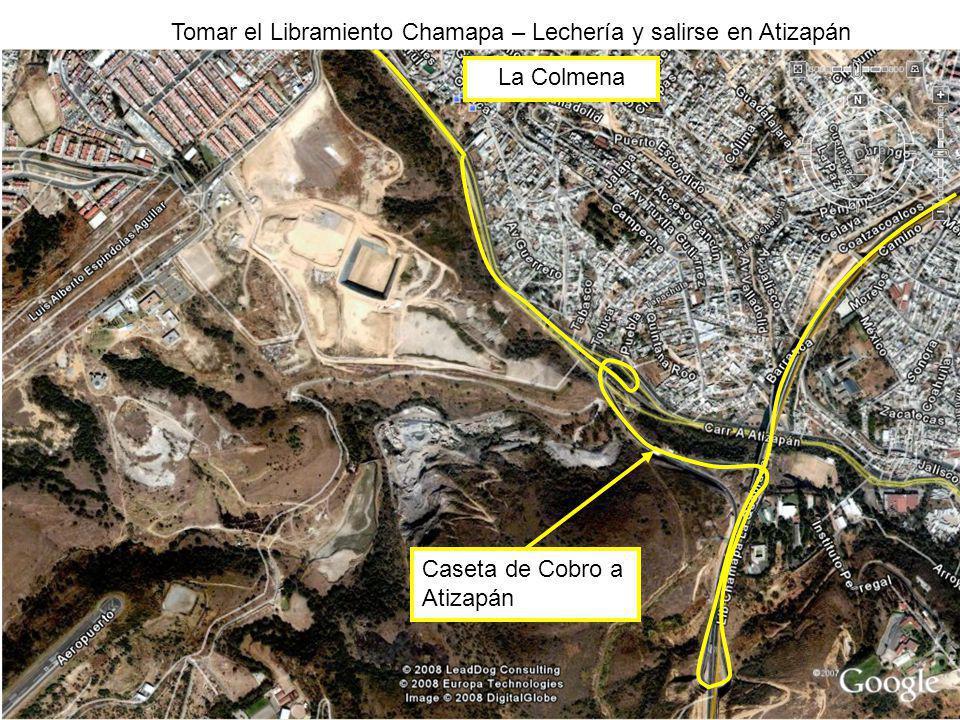 Tomar el Libramiento Chamapa – Lechería y salirse en Atizapán