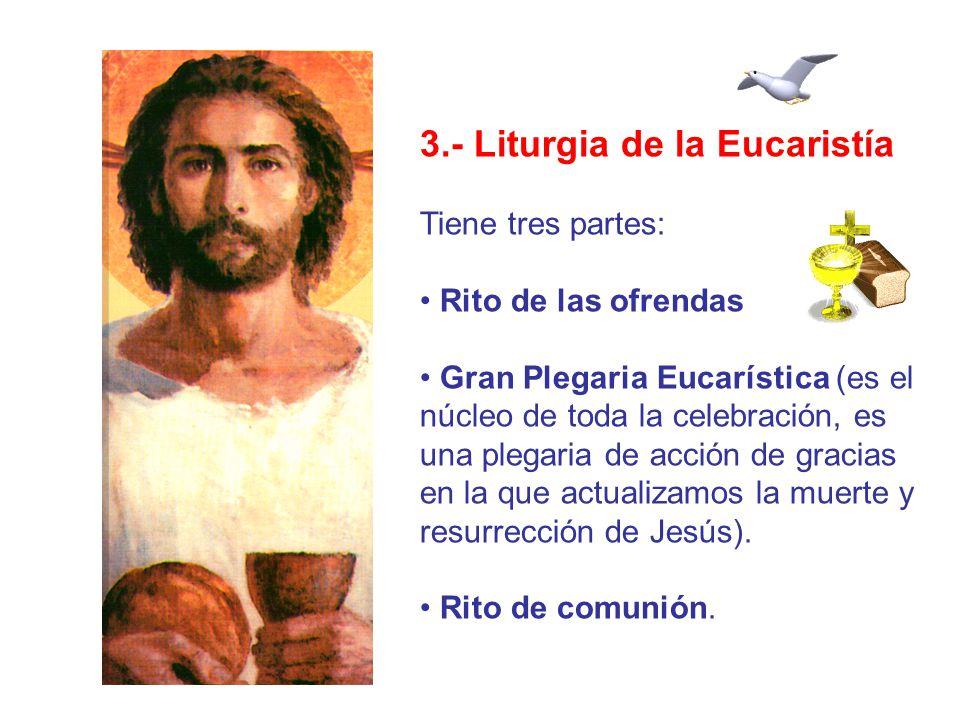 3.- Liturgia de la Eucaristía