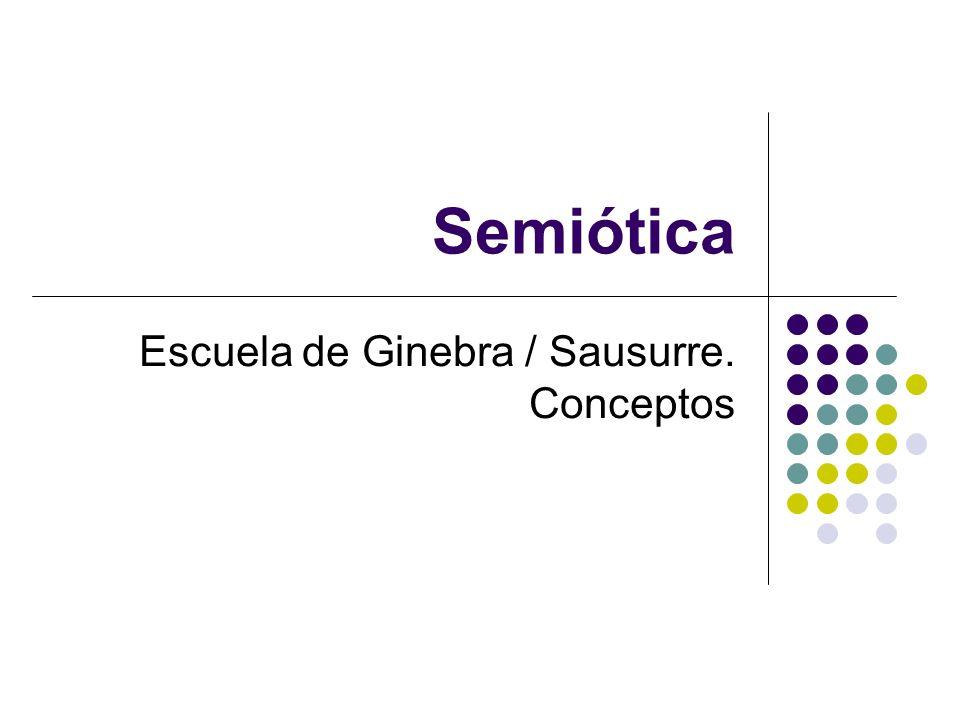 Escuela de Ginebra / Sausurre. Conceptos