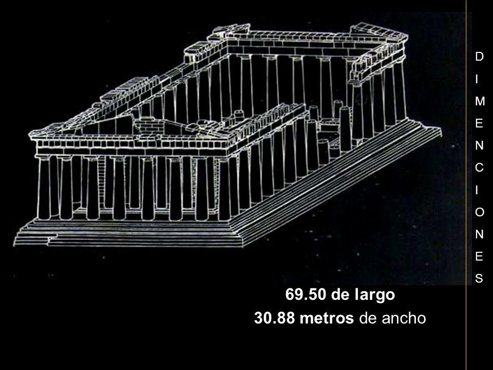 D I M E N C O S 69.50 de largo 30.88 metros de ancho