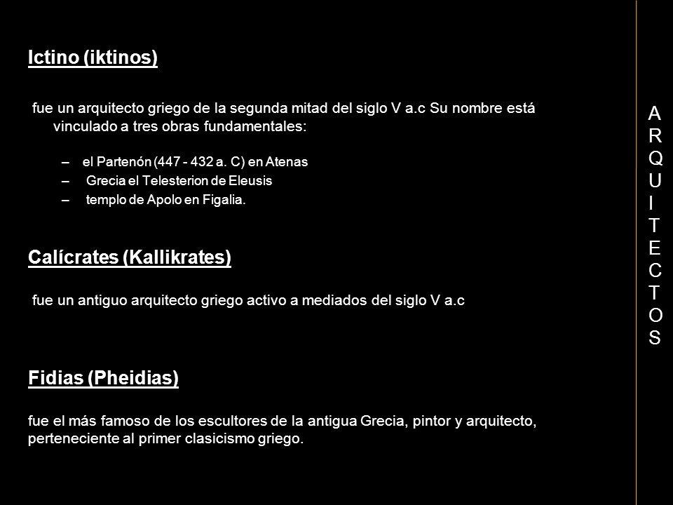 Calícrates (Kallikrates)
