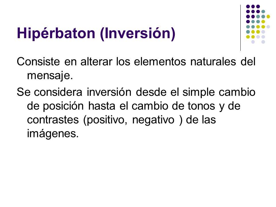Hipérbaton (Inversión)