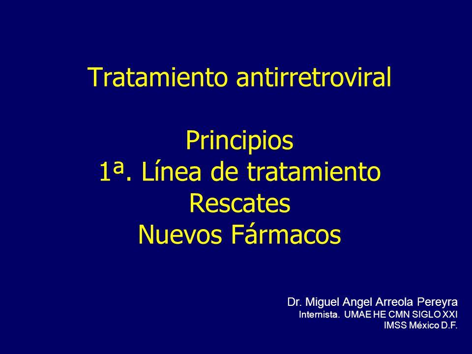 Tratamiento antirretroviral Principios 1ª