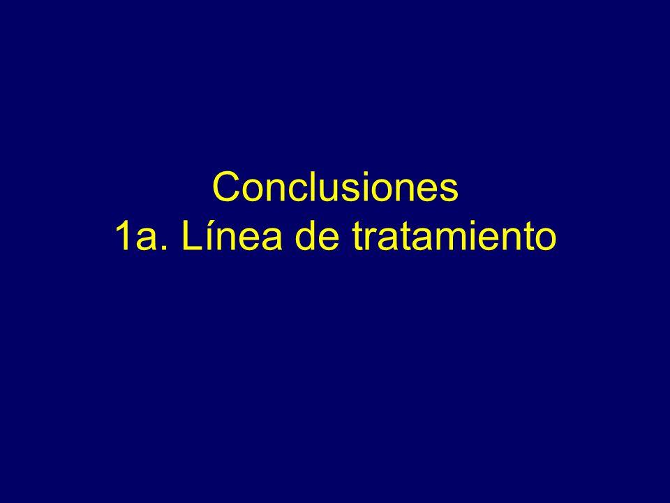 Conclusiones 1a. Línea de tratamiento