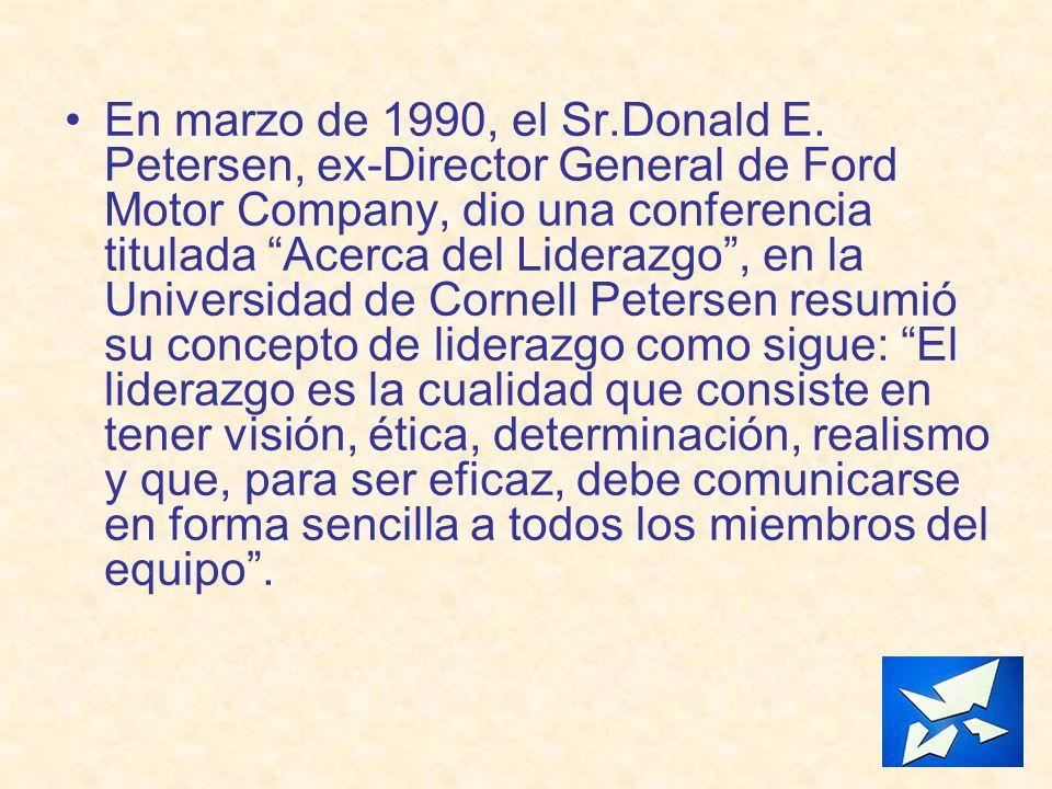 En marzo de 1990, el Sr. Donald E