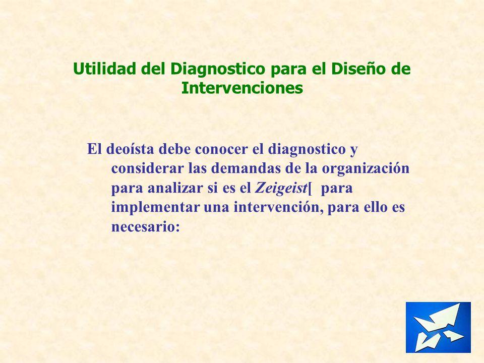 Utilidad del Diagnostico para el Diseño de Intervenciones