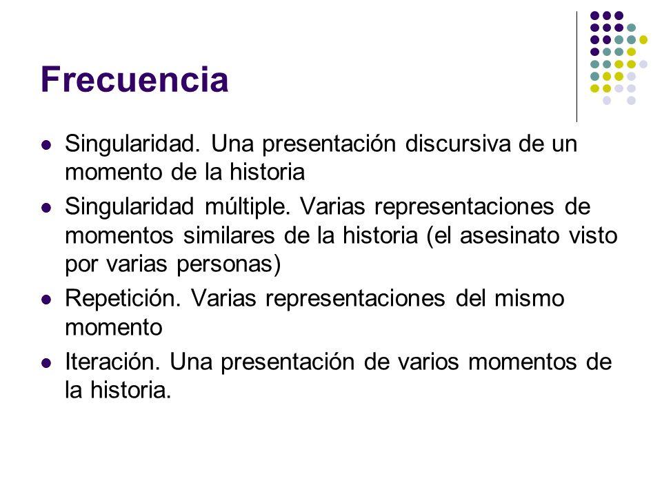 Frecuencia Singularidad. Una presentación discursiva de un momento de la historia.