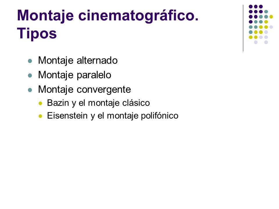 Montaje cinematográfico. Tipos