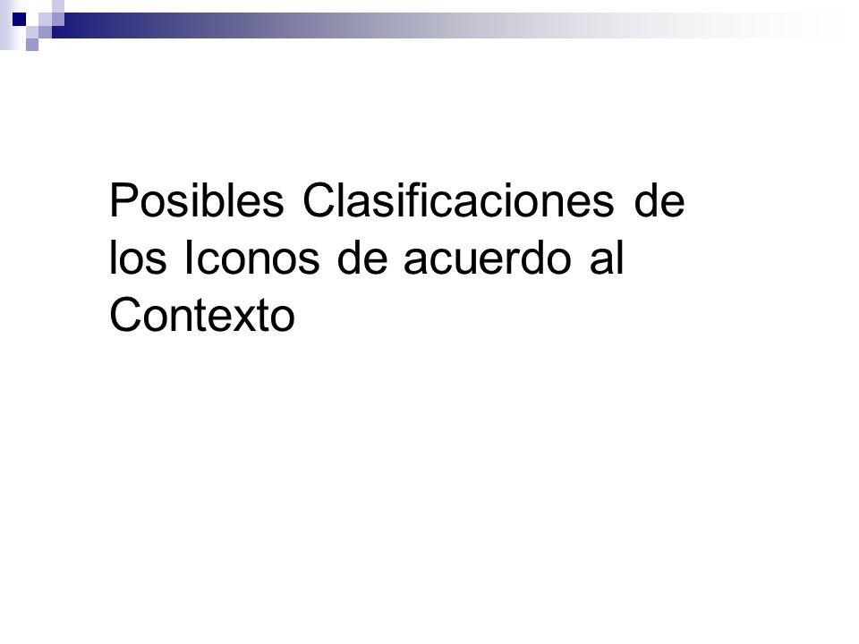 Posibles Clasificaciones de los Iconos de acuerdo al Contexto