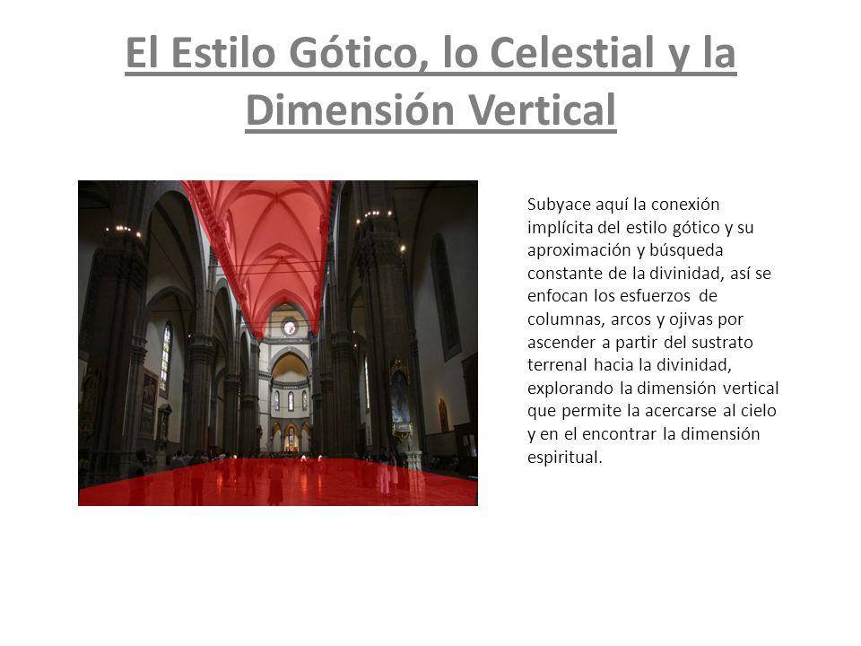 El Estilo Gótico, lo Celestial y la Dimensión Vertical