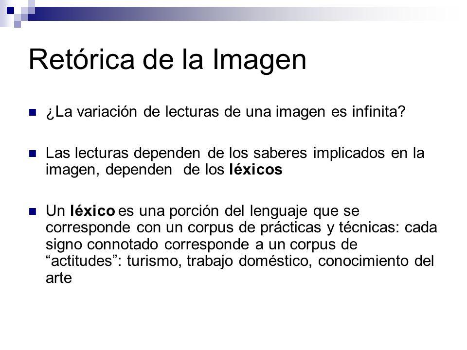 Retórica de la Imagen ¿La variación de lecturas de una imagen es infinita