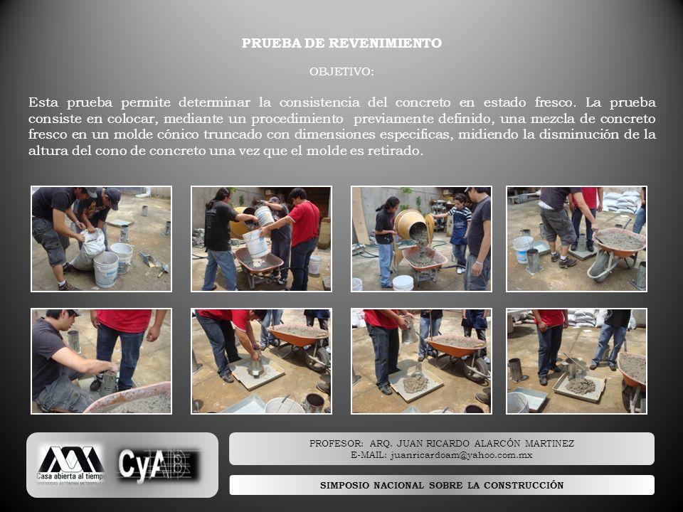 PRUEBA DE REVENIMIENTO SIMPOSIO NACIONAL SOBRE LA CONSTRUCCIÓN