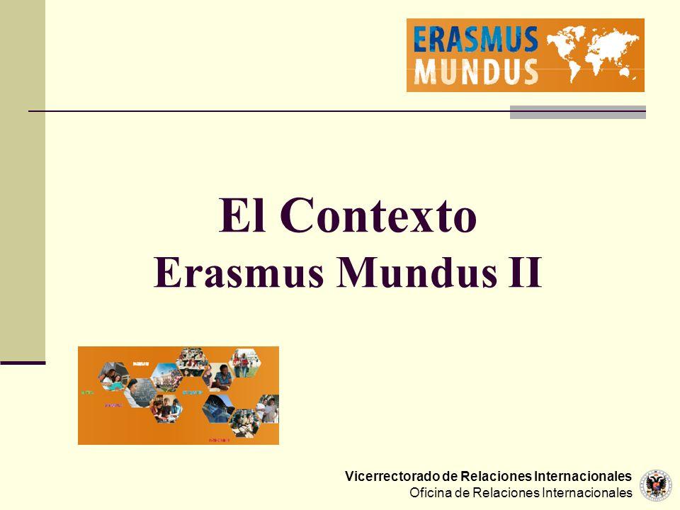 El Contexto Erasmus Mundus II