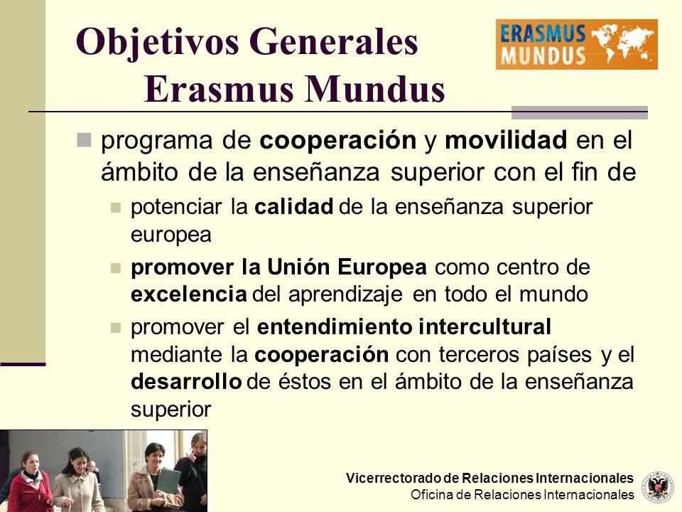 Objetivos Generales Erasmus Mundus