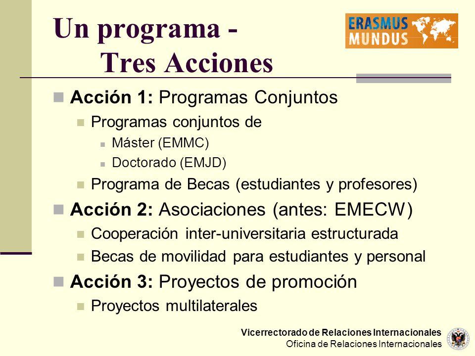 Un programa - Tres Acciones