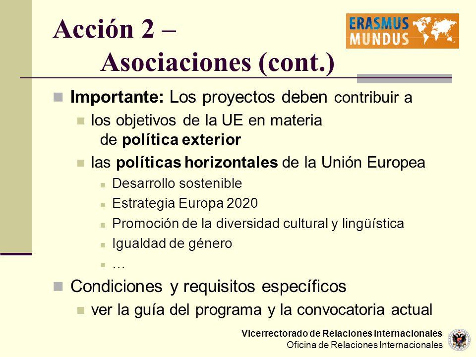 Acción 2 – Asociaciones (cont.)