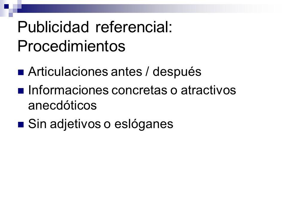 Publicidad referencial: Procedimientos