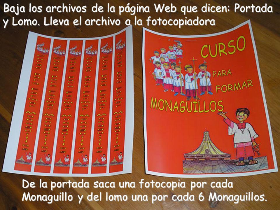 Baja los archivos de la página Web que dicen: Portada y Lomo