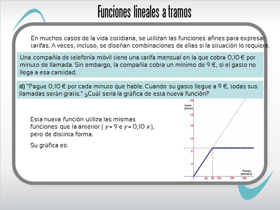 Funciones lineales a tramos