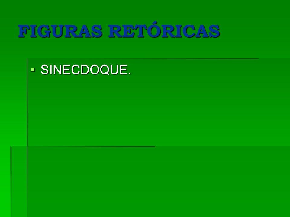 FIGURAS RETÓRICAS SINECDOQUE.