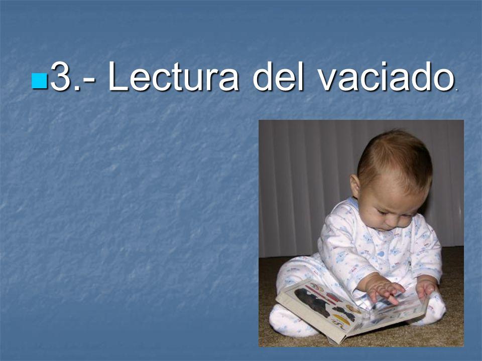 3.- Lectura del vaciado.