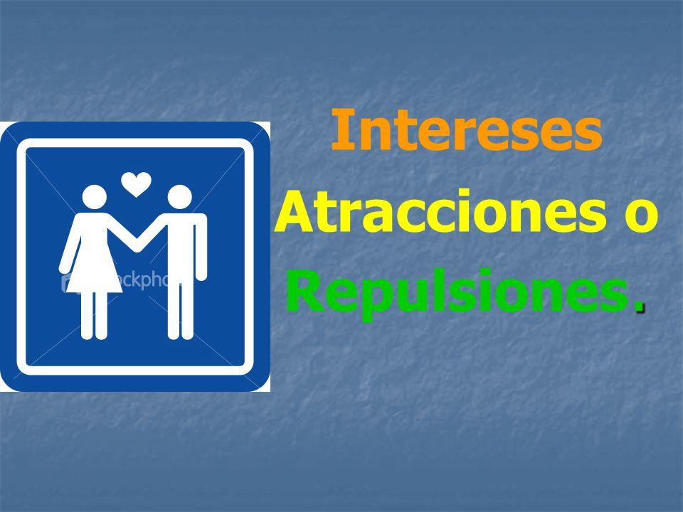 Intereses Atracciones o Repulsiones.