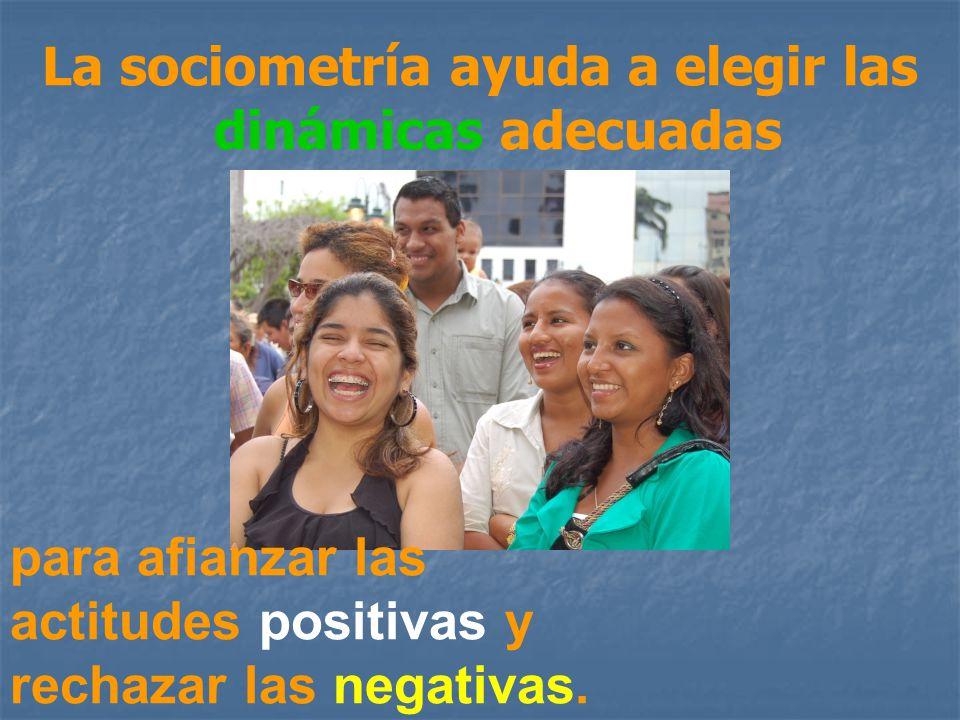 La sociometría ayuda a elegir las dinámicas adecuadas