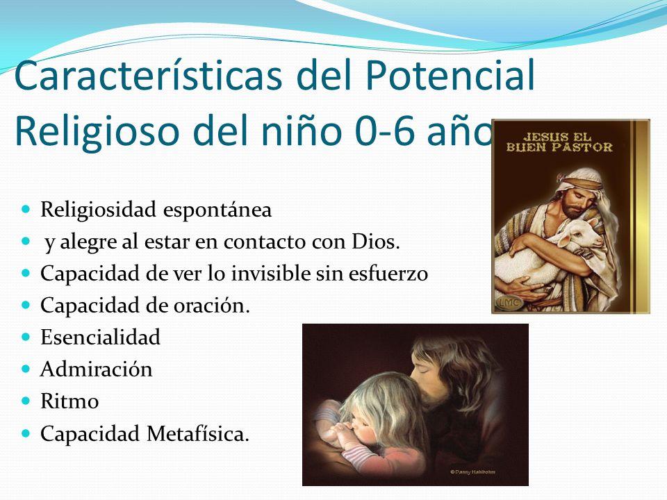 Características del Potencial Religioso del niño 0-6 años.