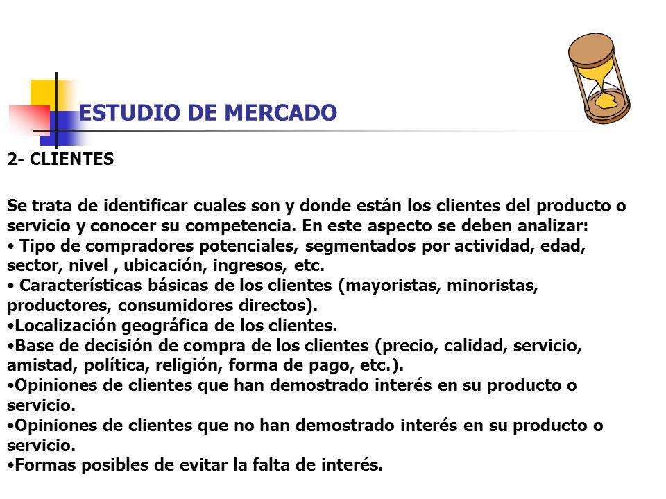 ESTUDIO DE MERCADO 2- CLIENTES