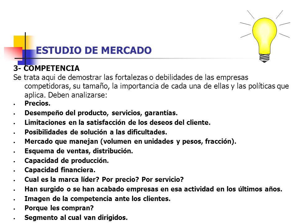 ESTUDIO DE MERCADO 3- COMPETENCIA