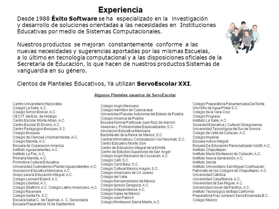Experiencia Desde 1988 Éxito Software se ha especializado en la investigación.