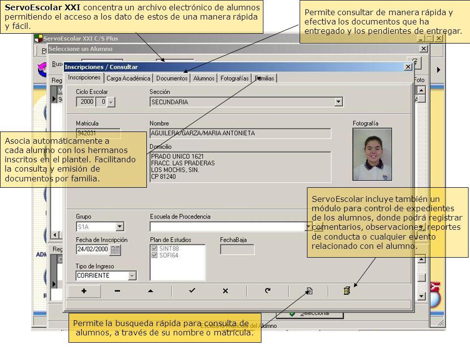ServoEscolar XXI concentra un archivo electrónico de alumnos