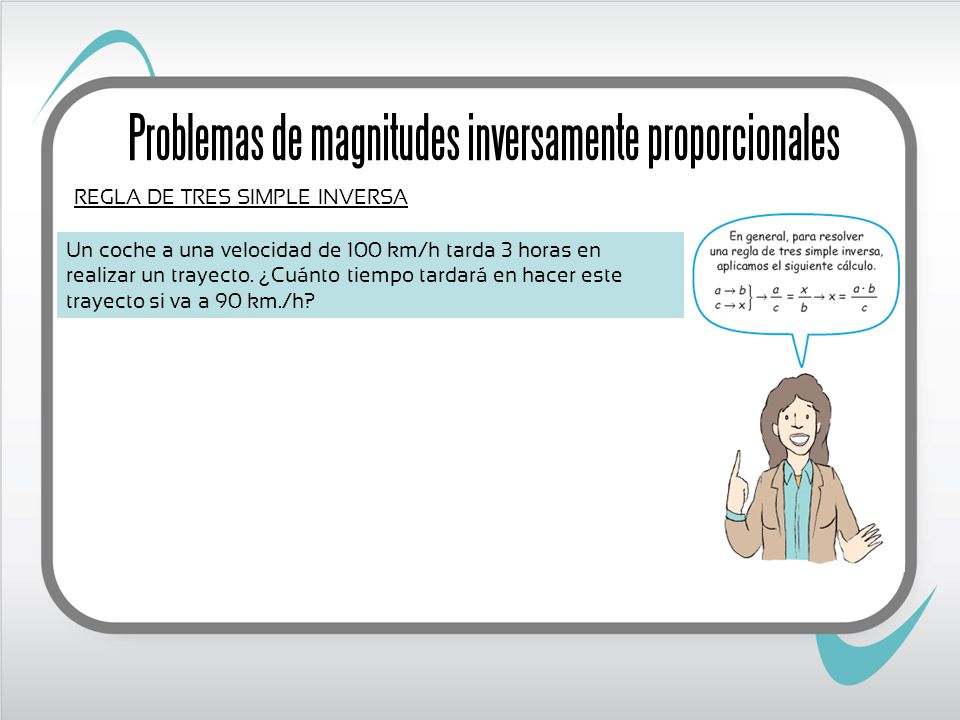 Problemas de magnitudes inversamente proporcionales