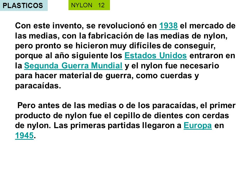 PLASTICOS NYLON 12.