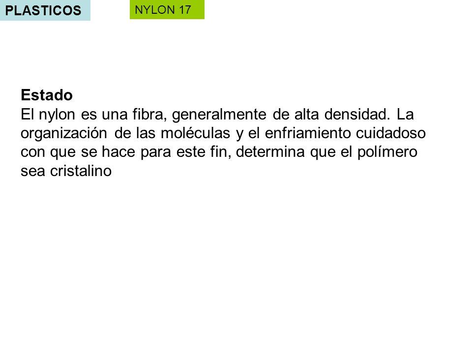 PLASTICOS NYLON 17. Estado.