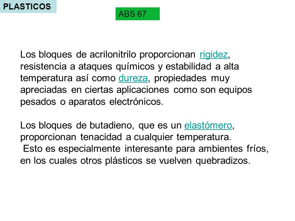 PLASTICOS ABS 67.