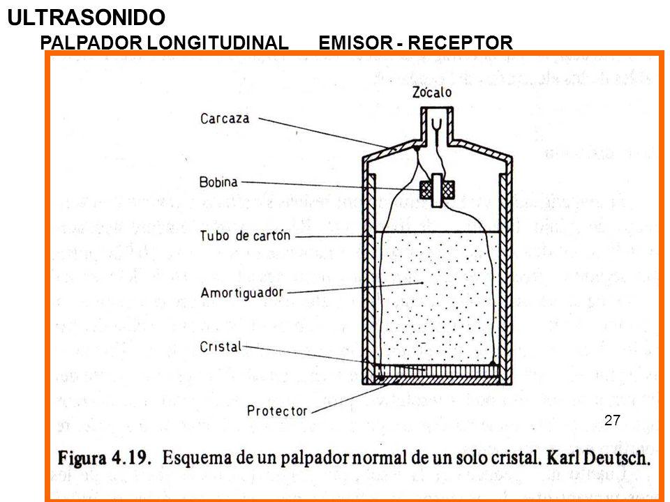 ULTRASONIDO PALPADOR LONGITUDINAL EMISOR - RECEPTOR 27