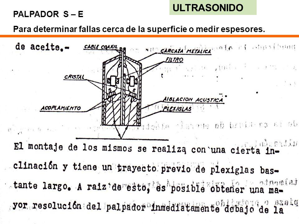 ULTRASONIDO PALPADOR S – E