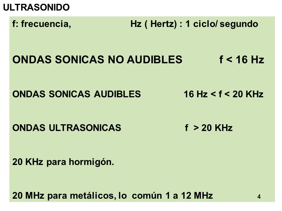 ONDAS SONICAS NO AUDIBLES f < 16 Hz