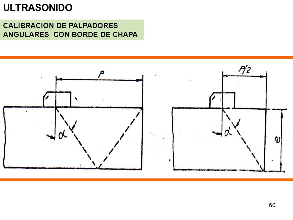 ULTRASONIDO CALIBRACION DE PALPADORES ANGULARES CON BORDE DE CHAPA