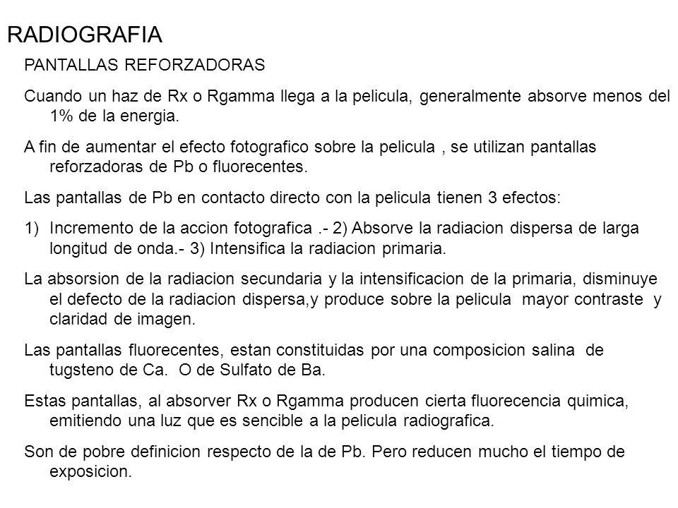 RADIOGRAFIA PANTALLAS REFORZADORAS