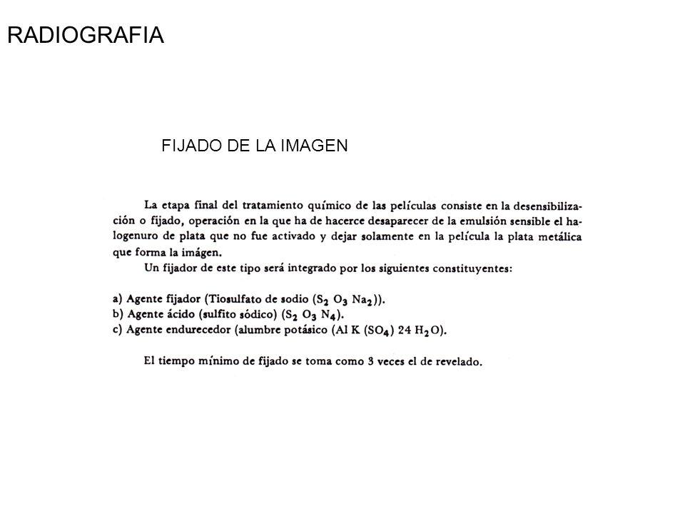 RADIOGRAFIA FIJADO DE LA IMAGEN