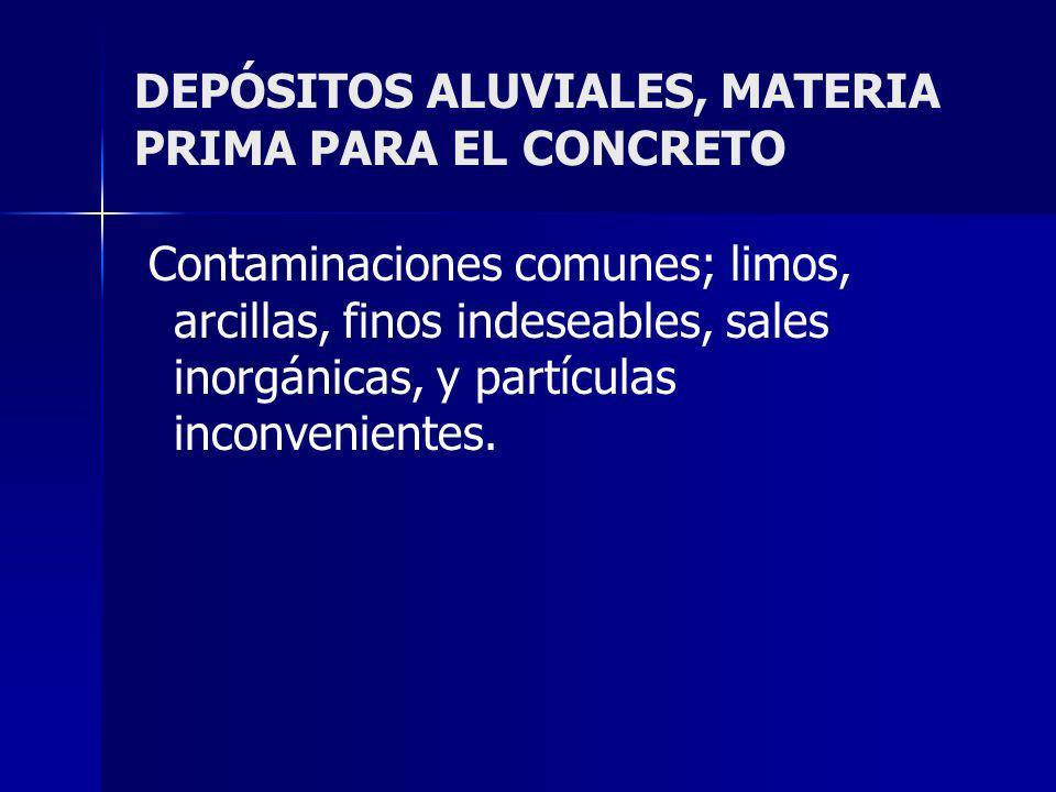 DEPÓSITOS ALUVIALES, MATERIA PRIMA PARA EL CONCRETO
