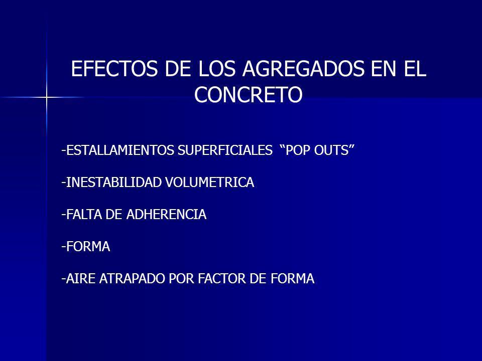 EFECTOS DE LOS AGREGADOS EN EL CONCRETO