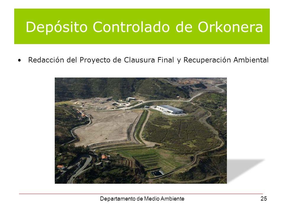 Depósito Controlado de Orkonera