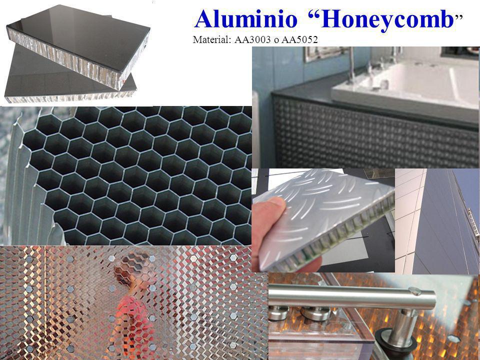 Aluminio Honeycomb Material: AA3003 o AA5052