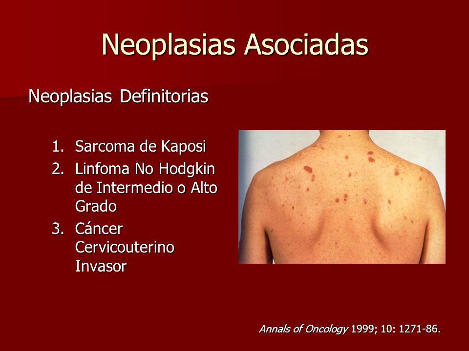 Neoplasias Asociadas Neoplasias Definitorias Sarcoma de Kaposi